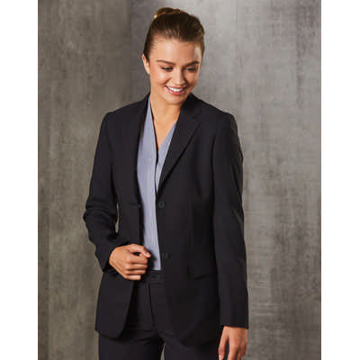 WomenS PolyViscose Stretch Two Buttons Mid Length Jacket