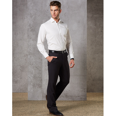 Mens Wool Blend Stretch Pants