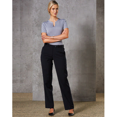 Women Wool Blend Stretch Slim Leg Flexi Waist Pants