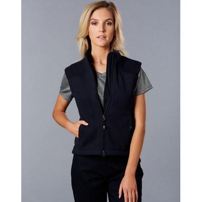 Ladies Diamond Fleece Vest