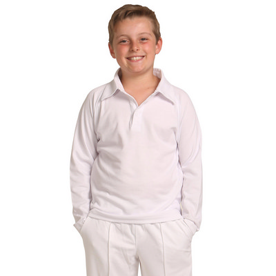 Kids TrueDry Mesh Knit Short Sleeve Cricket Long Sleeve Polo