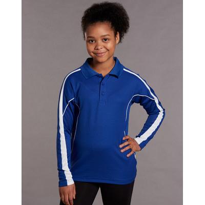 Kids TrueDry Fashion Long sleeve Polo