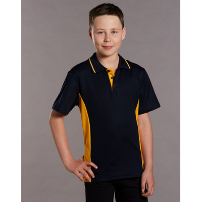 Kids TrueDry Contrast Short Sleeve Polo