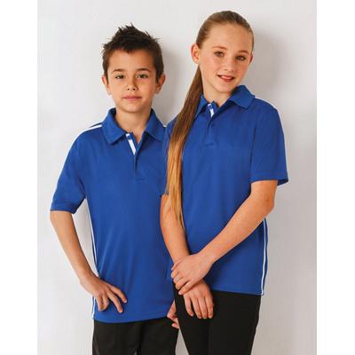 Kids RapidCool Short Sleeve Contrast Polo
