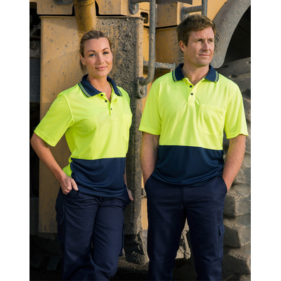 High Visibility Cooldry Short Sleeve Polo