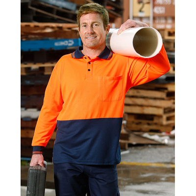 High Visibility Long Sleeve Polo