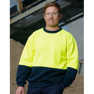 High Visibility Two Tone Crew Neck Safety Windcheater SW09_WIN