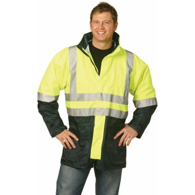 Hi-Vis Two Tone Rain Proof Safety Jacket With 3M Tapes