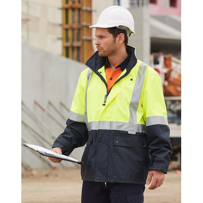 Hi-Vis Safety Jacket With 3M Tapes
