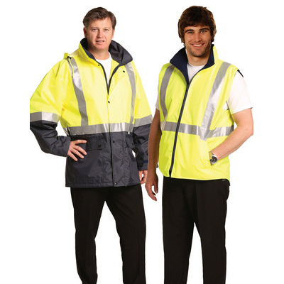 Hi-Vis Three in One Safety Jacket with 3M Tapes