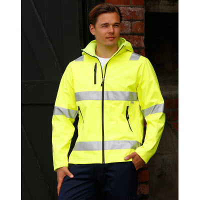Adults HiVis Heavy Duty Softshell Jacket with 3M Tapes