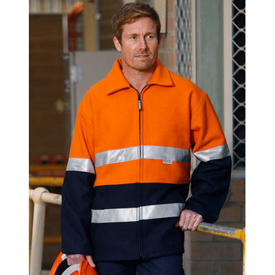 Hi-Vis Two Tone Bluey Safety Jacket with 3M