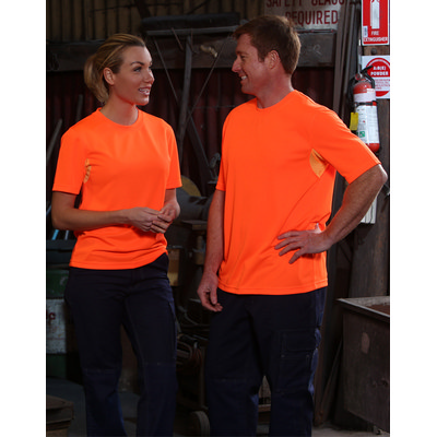 Adults Hi-Vis CoolDry Mini Waffle Safety Tee SW39_WIN