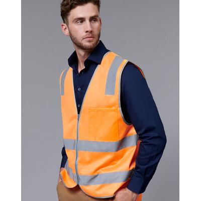 Unisex Hi-Vis Safety Vest With Reflective Tapes