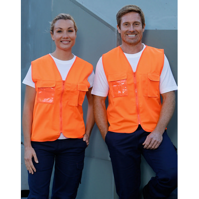 High Visibility Safety Vest with chest pockets