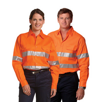 Cotton Drill Safety Shirt - Unisex