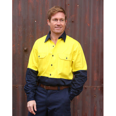 Cotton Drill Safety Shirt