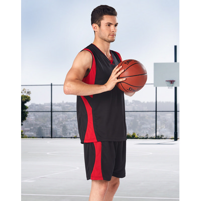 Adults CoolDry Basketball Contrast Colour Singlet
