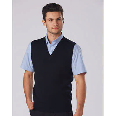 Unisex WoolAcrylic V-Neck Vest