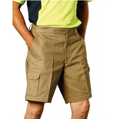 MenS Heavy Cotton Drill Cargo Shorts