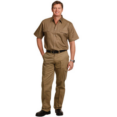 Mens Heavy Cotton Pre-Shrunk Drill Pants Long Leg