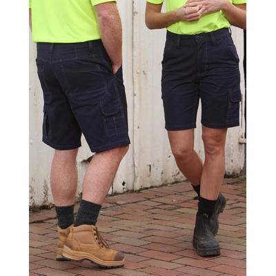 Unisex Cotton Canvas Cargo Shorts with CORDURA