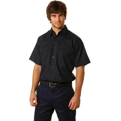 Cotton Drill Short Sleeve Work Shirt
