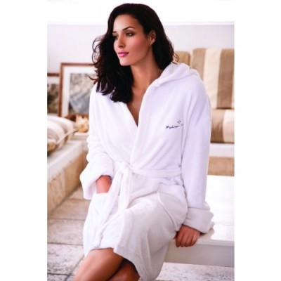 Coral Fleece Hooded bath robe