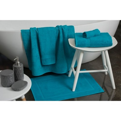 New Plush Hand  towel with Tone on Tone or black print