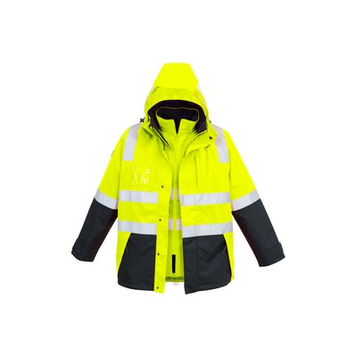 Syzmik Mens Hi Vis 4 in 1 Waterproof Jacket