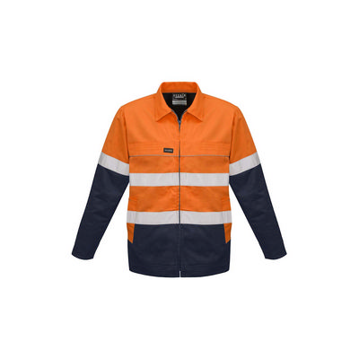 Syzmik Mens Hi Vis Cotton Drill Jacket
