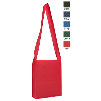 Non-woven Sling Bag (Factory Direct Indent Stock) - (printed with 1 colour(s)) TB1141NWPP-BK_F_TBS