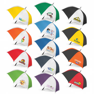 Hydra Sports Umbrella - White Panels - (printed with 1 colour(s)) 107909_TRDZ