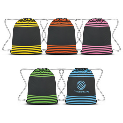 Striped Drawstring Sports Pack - (printed with 1 colour(s)) 111413_TRDZ
