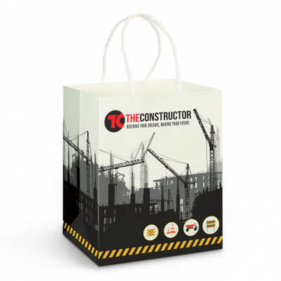 Medium Paper Carry Bag  Full Colour - (printed with 4 colour(s))