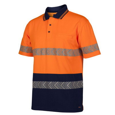 JB`S HV S/S SEGMENTED TAPE POLO