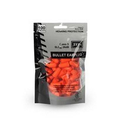 BULLET SHAPED EARPLUG (100 PIECES)