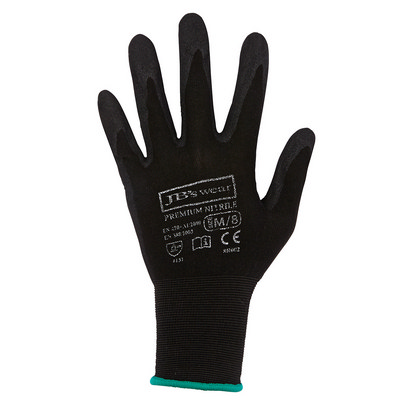 JBs Premium Black Nitrile Brthable Glove (12 Pk)